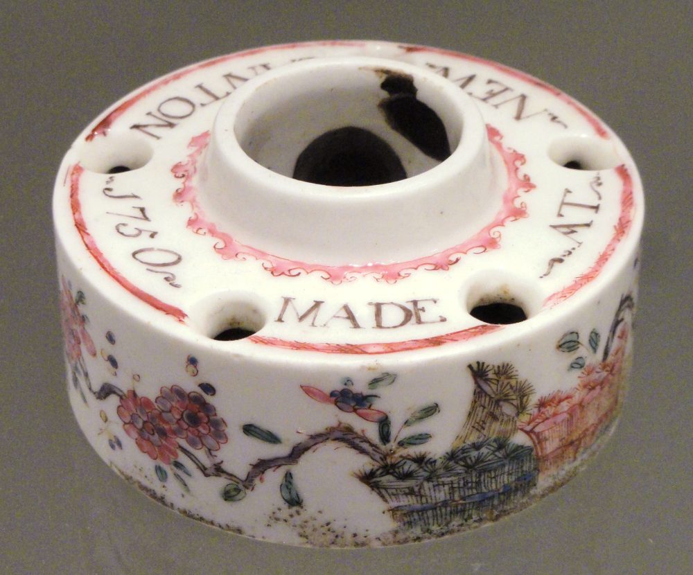 Inkwell made by Bow Porcelain, near Bow Bridge in 1850.