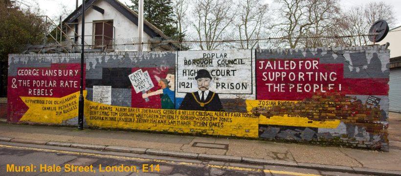 1921 Poplar Rates Strike mural, Hale Street London E14