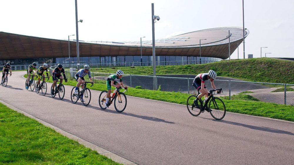 Road racing at the London Velodrome