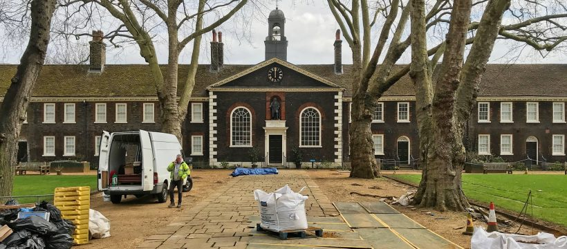 Geffrye Museum now renamed Museum of the Home, nears the end of its refurbishment. View from Kingsland Road.