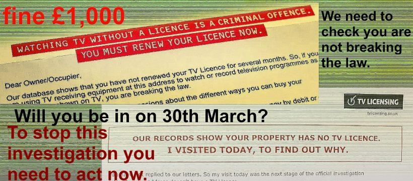 TV licence demands - a strange way of marketing