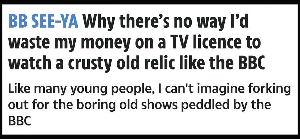 The Sun Feb 2018 on the BBC Licence Fee