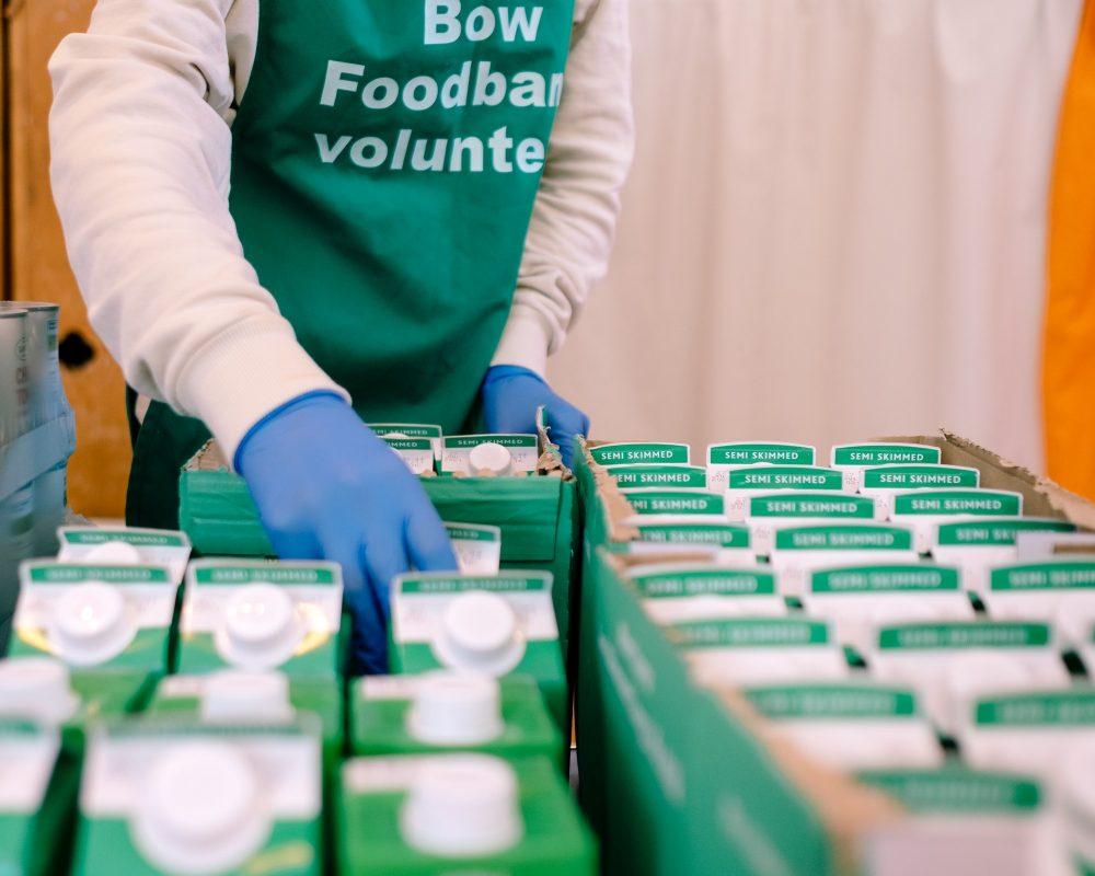 Bow Foodbank volunteer