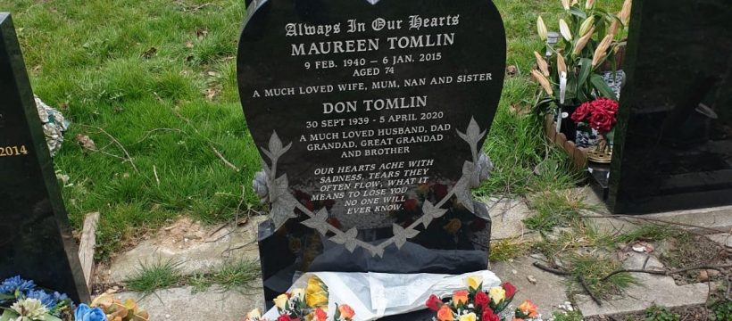The grave of Don Tomlin