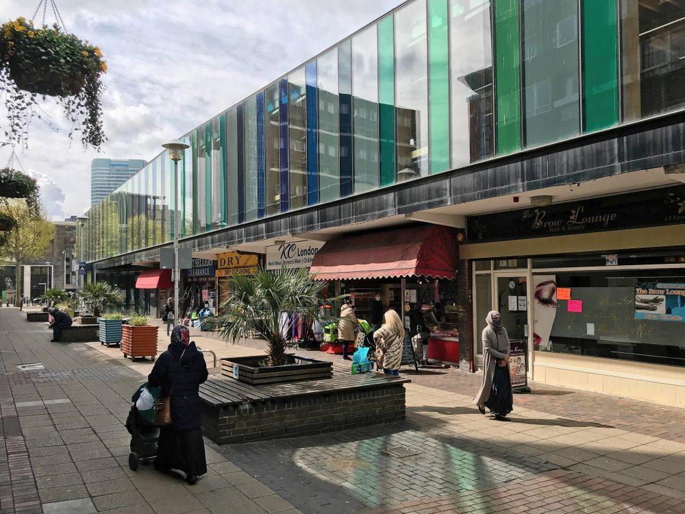 Chrisp Street Market taken May 2021