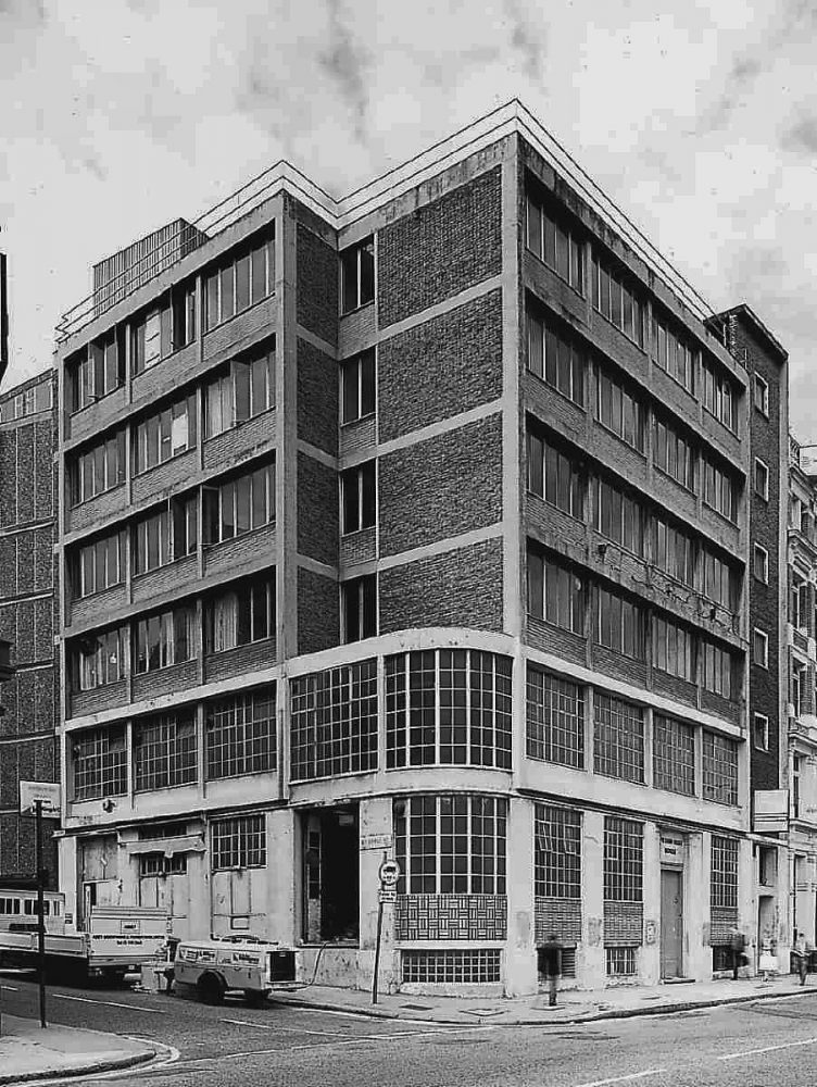Daily Worker offices and print works Farringdon Road, By Goldfinger.