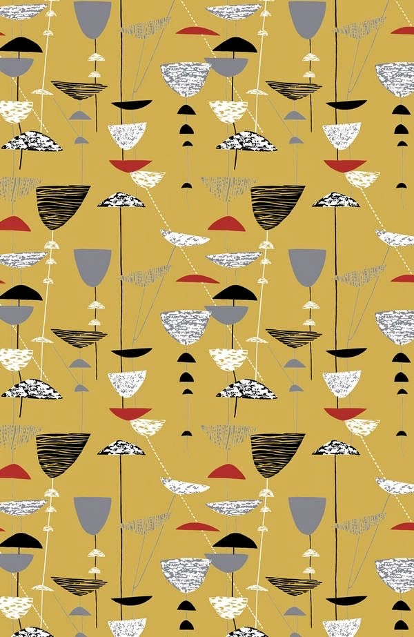 CCalyx, furnishing fabric by Lucienne Day, 1951