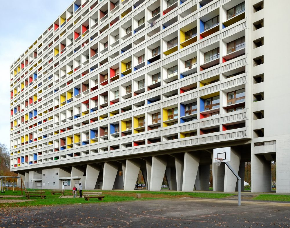Unité d'Habitation by Le Corbusier at Briey-en-Forêt - completed 1961. Photo by Stephan Rutishauser taken in 2016.