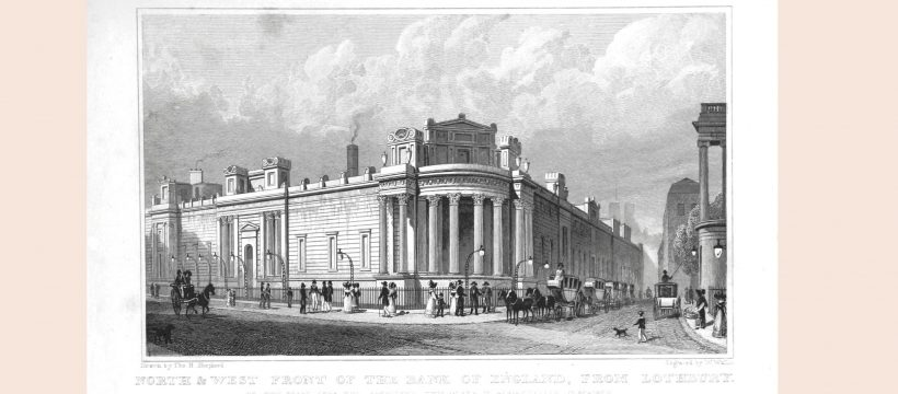 Design for Bank of England by John Soane
