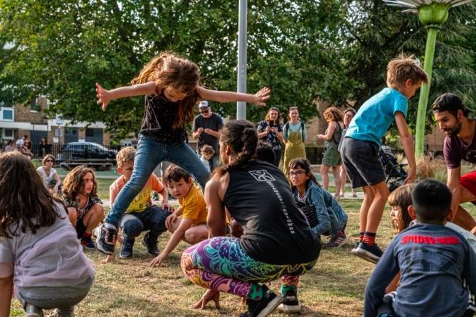 Children's 'Parkour' Workshop at Chisenhale Dance Space: Street Festival 2019
