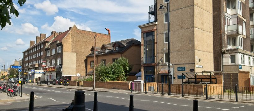 Site of Old Three Colts pub on Old Ford Road , Bow
