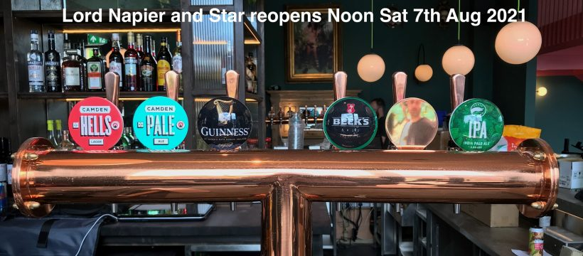 The Lord Napier and Star reopening