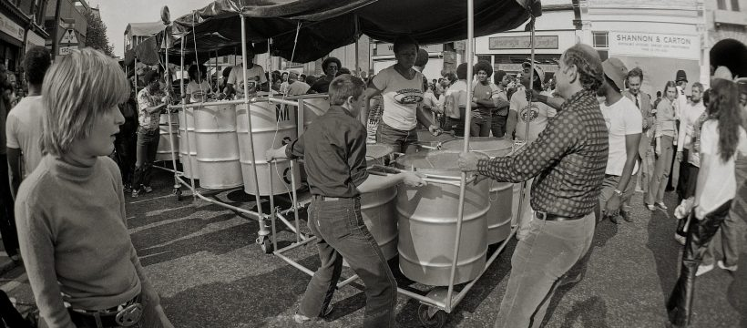 Drums Notting Hill Carnival about 1980