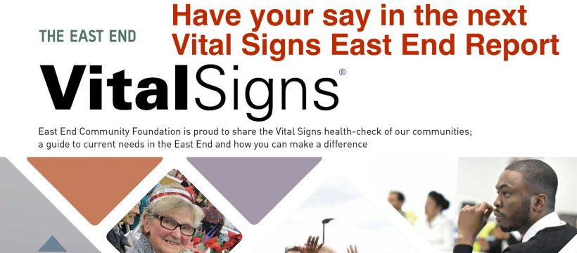 Vital Signs - what local issues concern you?