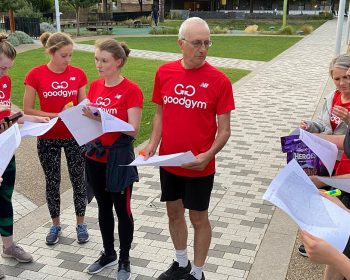 GoodGym members getting ready on St Stephen's Green