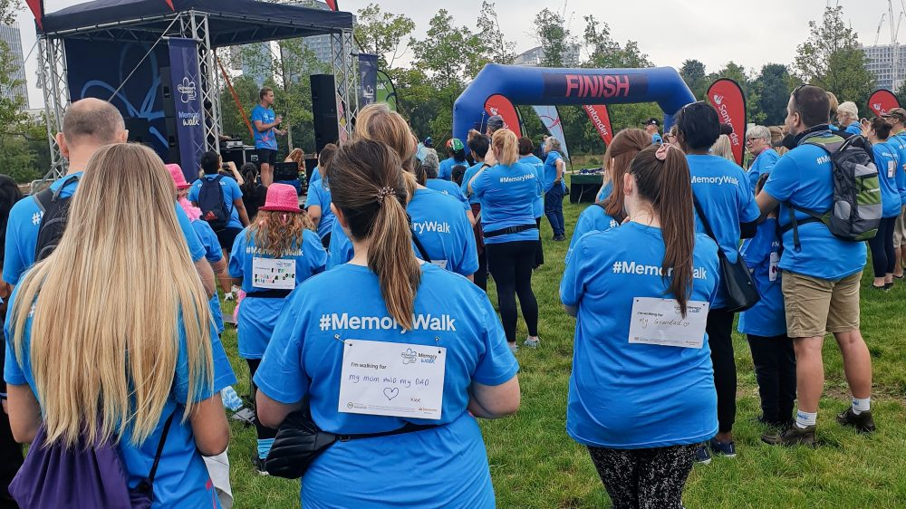 The Alzheimers Memory Walk 2021 finish