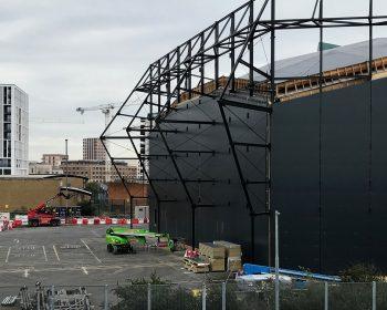 Pudding Mill Lane Theatre under construction