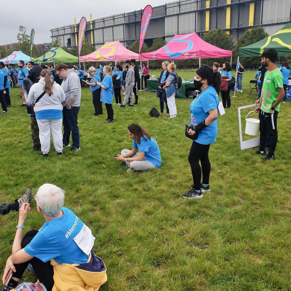 Stalls at end of the Alzheimers Memory Walk 2021